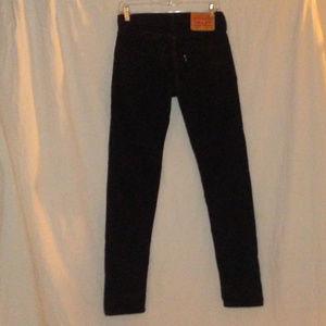 LEVI'S 512 W 28 X30 Black Corduroy Slim Jeans Mens